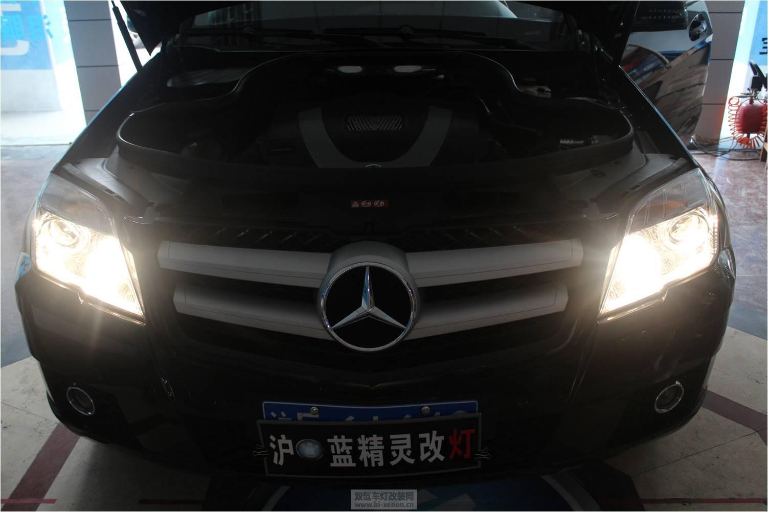 奔驰glk300改装q5透镜 高清图片